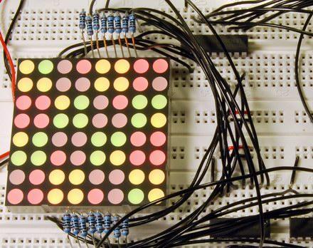Dual color LED matrix