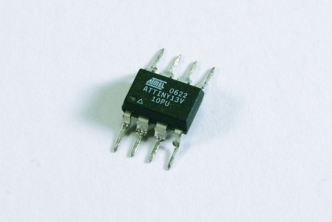 ATtiny13 with bent legs