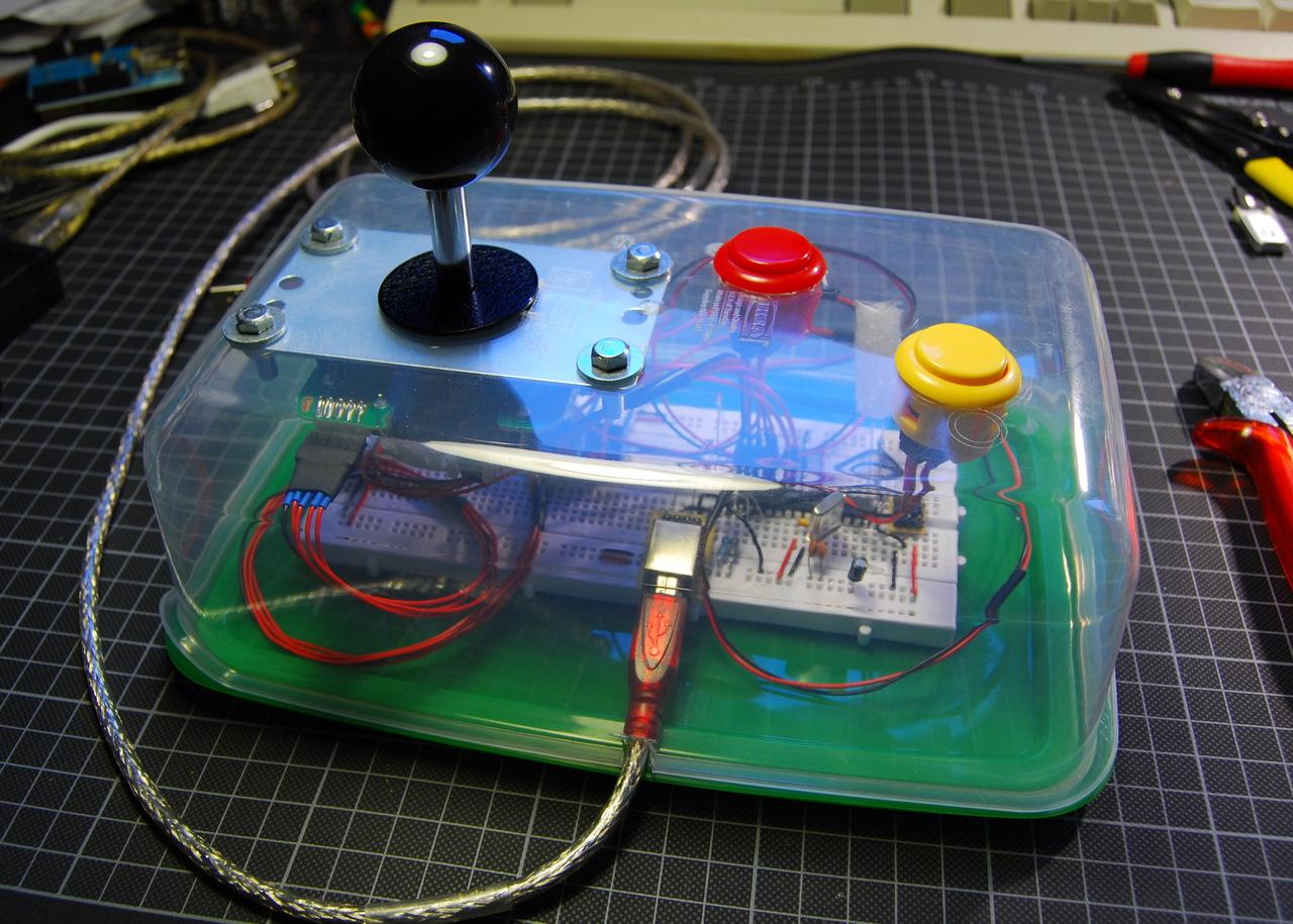 Tupperware Arcade Controls | tinkerlog