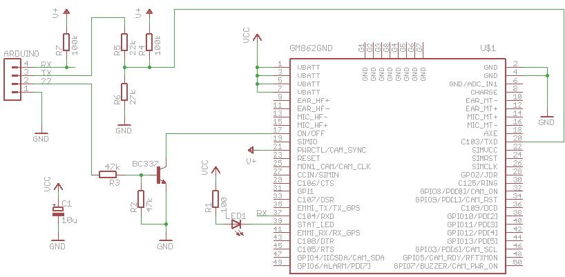 Interfacing Arduino with a Telit GM862 – tinkerlog