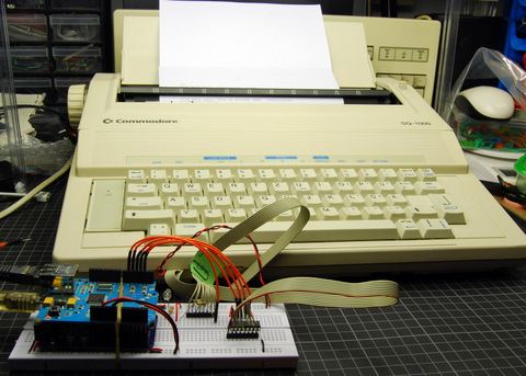 Arduino with typewriter
