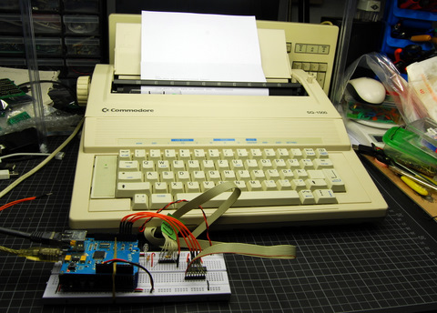 Arduino interfaced with Commodore SQ1000