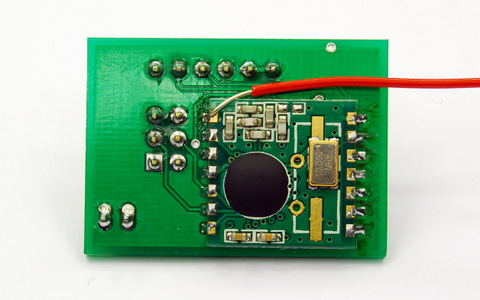 ADXL335 + ATmega328 + RFM12B (backside)