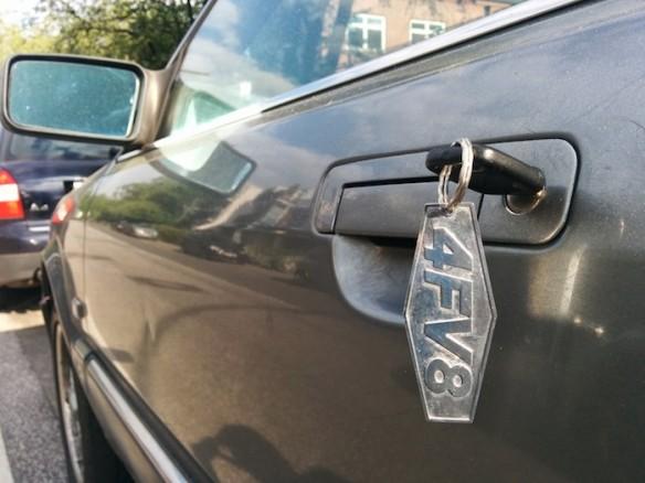 Keychain Audi V8
