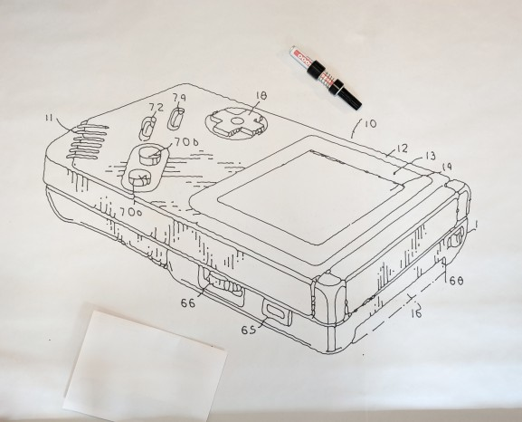 Gameboy patent drawing